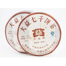 Чай Пуэр блин (357гр) Менхай ДАИ 7572 2009 год