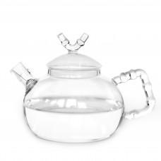 """Чайник стеклянный с металлической спиралью в носике 800мл """"Водопад"""""""